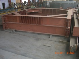Customized Steel Fabrication – Reaction Frame for DMRC