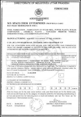 Registration with Directorate of Industries Uttar Pradesh